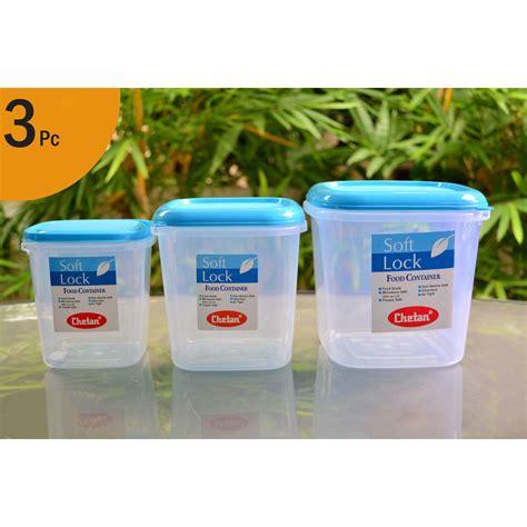 plastic storage containers kitchen buy chetan set of 3 pcs plastic airtight kitchen storage