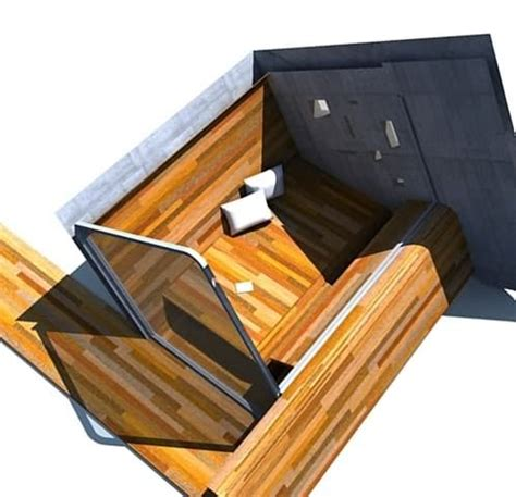 riverside shelter riverside shelter moderno refugio de madera y hormig 243 n