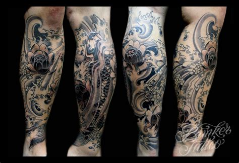 leg sleeves tattoo designs koi page 3