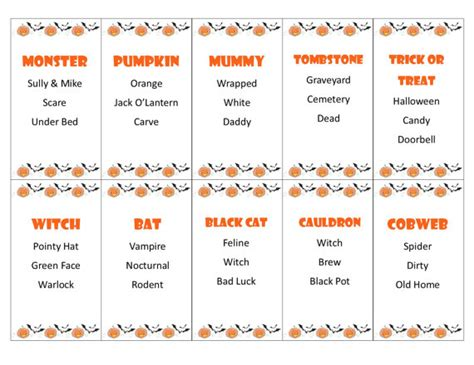 halloween charades free printable halloween game the printable halloween taboo game cards instant download for your