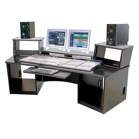Media Workstation Desk by Omnirax 36 Audio Workstation Black Musician S Friend