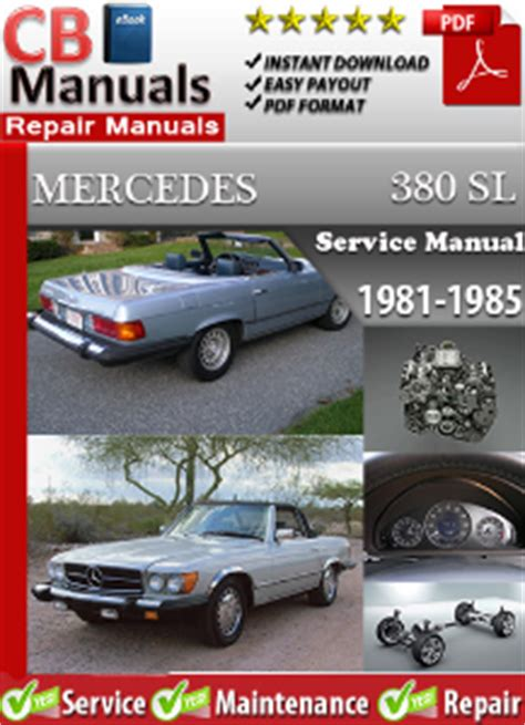 free download parts manuals 1984 mercedes benz e class auto manual mercedes 380sl 1981 1985 service repair manual ebooks automotive