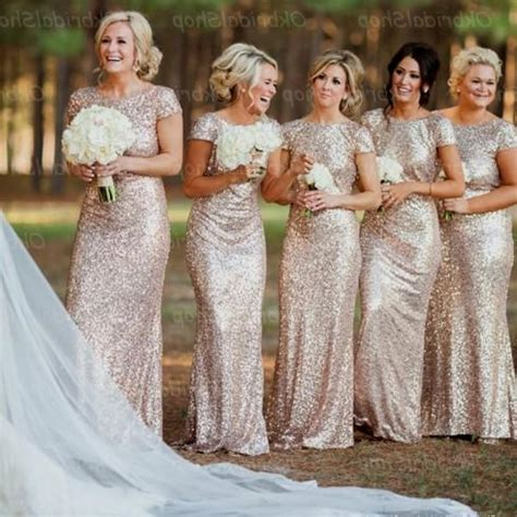Gold Sequin Bridesmaid Dress   Oasis amor Fashion