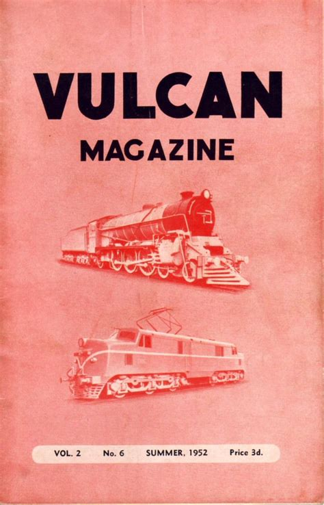 No 6 Vol 2 vulcan foundry newton le willows company magazine volume 2 number 6 1952