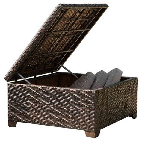 christopher knight outdoor ottoman christopher knight home wicker patio storage ottoman