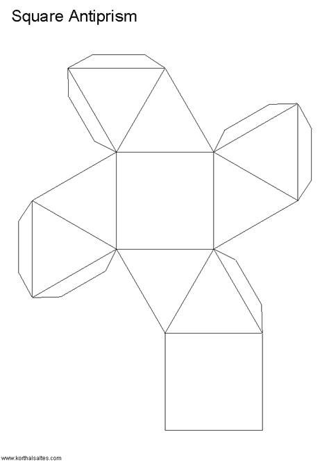 Rectangular Prism Origami - net rectangular antiprism paper craft