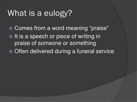 ppt what is a eulogy powerpoint presentation id ppt what is a eulogy powerpoint presentation id 2793373