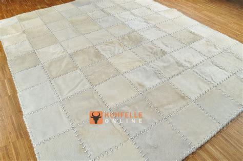 teppich 180 x 160 kuhfell teppich weiss natur creme 200 x 160 cm handvern 196 ht