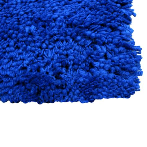 shaggy rugs shaggy blue quality thick luxurious soft large rug 170 x 110 cm