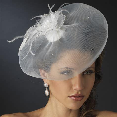 Feather Wedding Veil feather fascinator and wedding hat veil bridal