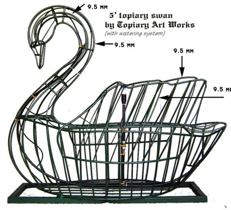 how to make a wire topiary frame swan topiary frame 5 by topiary1 via flickr swans