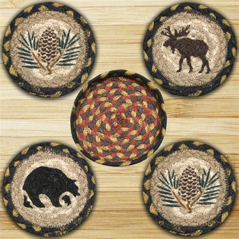 braided rug coasters wilderness braided jute coaster set by capitol earth rugs the patch