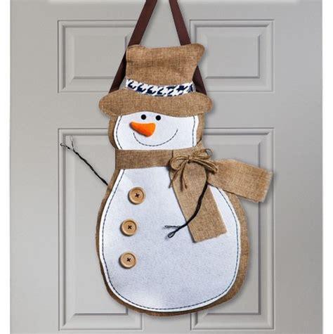 Decorative Door Knob Hangers by Snowman Burlap Door Hanger Door Hangers Themes