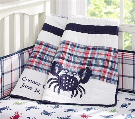 Madras Crib Bedding by Crab Madras Nursery Bedding Pottery Barn
