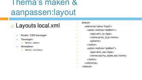 layout xml for magento magento cursus theme opzetten beheren
