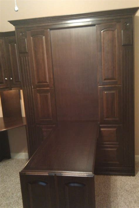 murphy bed with corner desk smithsonian murphy bed and two desk custom by chris