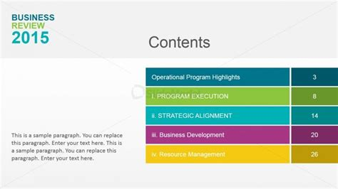 table of contents powerpoint template casseh info