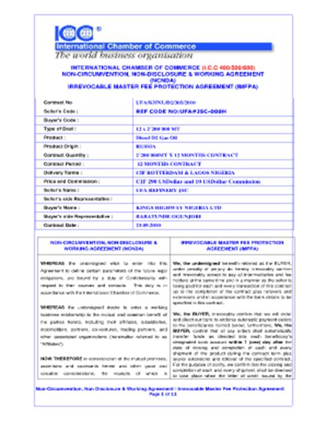 ncnd agreement template icc 400500600 nigeria fill printable fillable