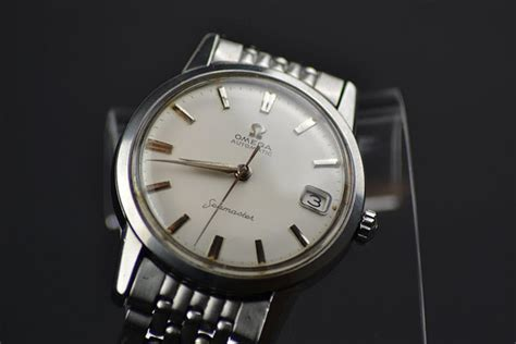 gents vintage omega seamaster automatic stainless steel