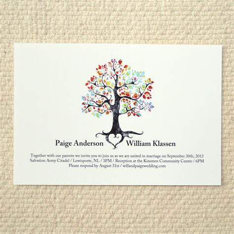 printable wedding invitations tree the bohemian tree wedding invitation diy printable pdf