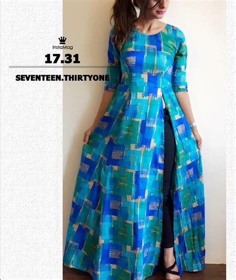 back side pattern of kurti side slit dress designer pinterest side slit dress