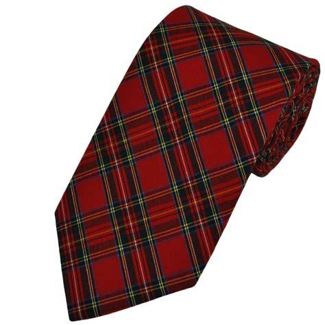 royal stewart tartan patterned tie by buck from