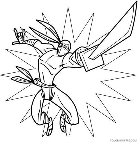 ninja coloring page free ninja coloring pages with katana coloring4free
