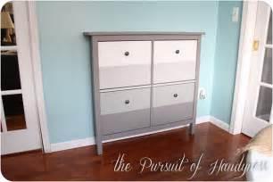 ikea hack hemnes shoe cabinet love the ombre ikea hemnes hack home organization