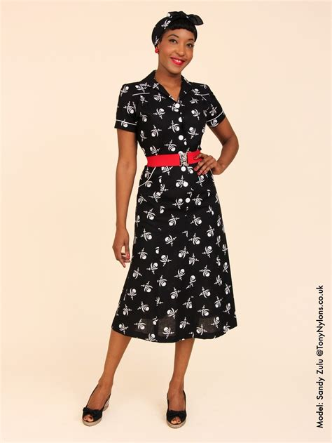 1940s style tea dress pirate from vivien of holloway