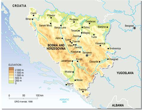 where is bosnia on a world map maps bosnia map