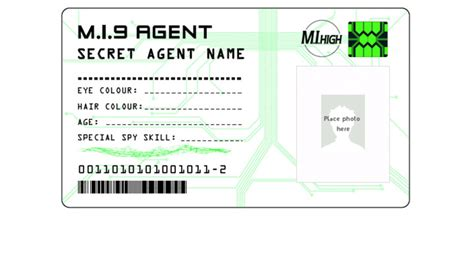 Special Agent Id Card Template Pics Photos Secret Agent Card