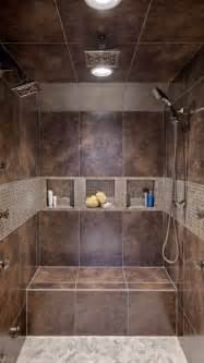 Tiled Showers With Bench Double Headed Shower Bathroom Ideas Pinterest