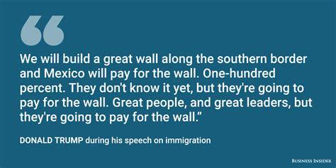 donald trump quotes immigration donald trump delivers major immigration speech in arizona