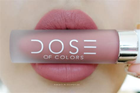 Lipstick Like Dose Of Colors dose of colors liquid matte lipstick review and swatches xueqi s episode