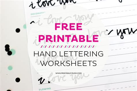 lettering tutorial for beginners 3 free hand lettering worksheets for beginners printable