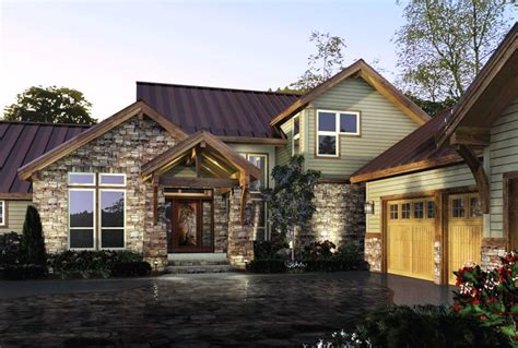 rustic modern house plans with farm style decoration