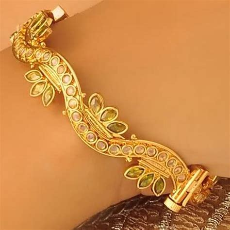 Gold and Diamond : Fashion 22 Carat Ruby Gold Bangles 1