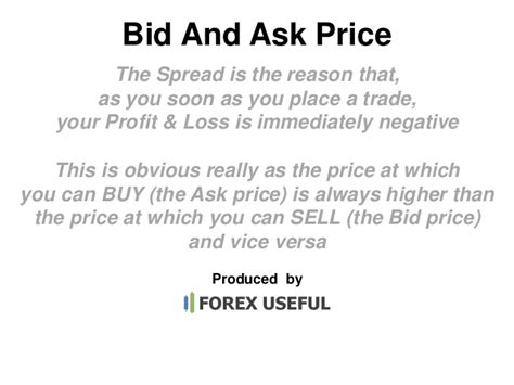 bid prices bid and ask price