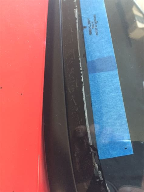 Experimental Rear Hatch Delamination Repair Glue
