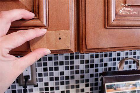 where to put knobs on kitchen cabinets install cabinet knobs archives pretty handy girl