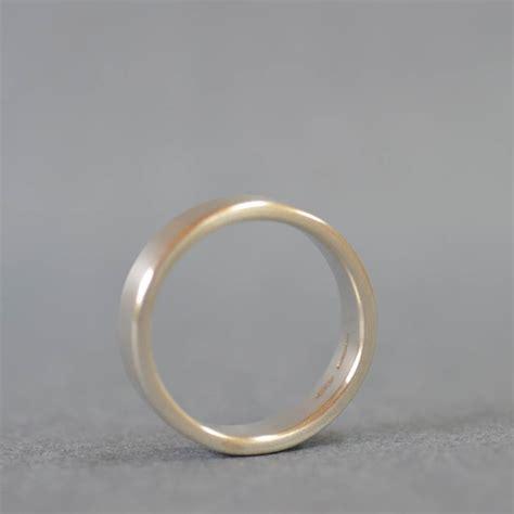 Handmade Silver Wedding Rings - handmade satin silver rectangular wedding ring by muriel