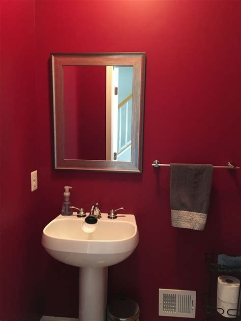 behr dark crimson  powder bathroom behr paint colors