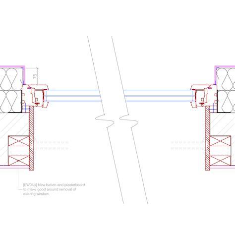 window in plan new window to ewi for single brick reveal plan