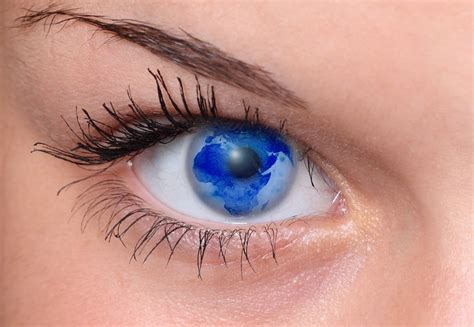 photo eye woman pupil lid eyebrow  image