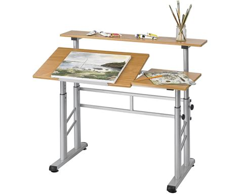 Safco Height Adjustable Split Level Drafting Table Tiger Safco Split Level Drafting Table