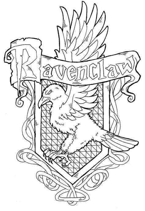 harry potter coloring pages color by number ravenclaw crest by yami shinen deviantart com harry
