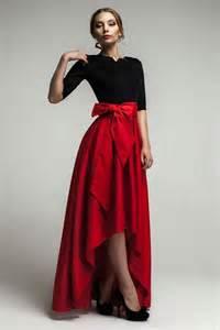 formal maxi dress asymmetrical skirt dress with bow