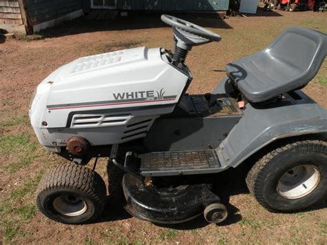White Garden Tractor by White Lawn Tractor County Pei