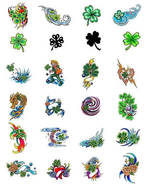 small shamrock tattoo designs four leaf clover tattoos what do they tattoos