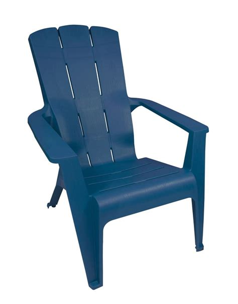gracious living adirondack contour chair blue  home